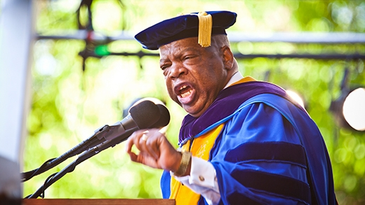 Congressman John Lewis speaks at Emory University's Commencement in 2019