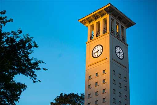 Cox Hall clock tower