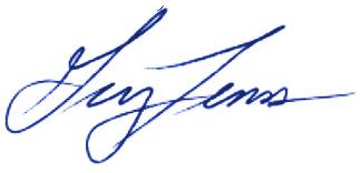 Greg Fenves signature